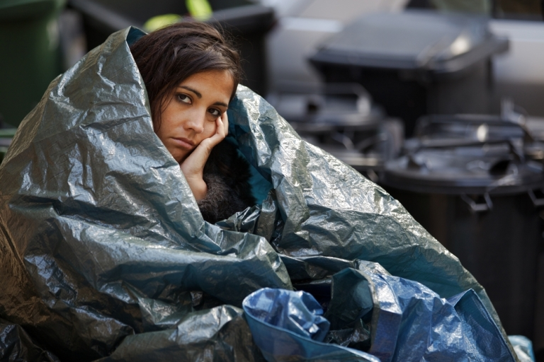 woman-wrapped-in-plastic