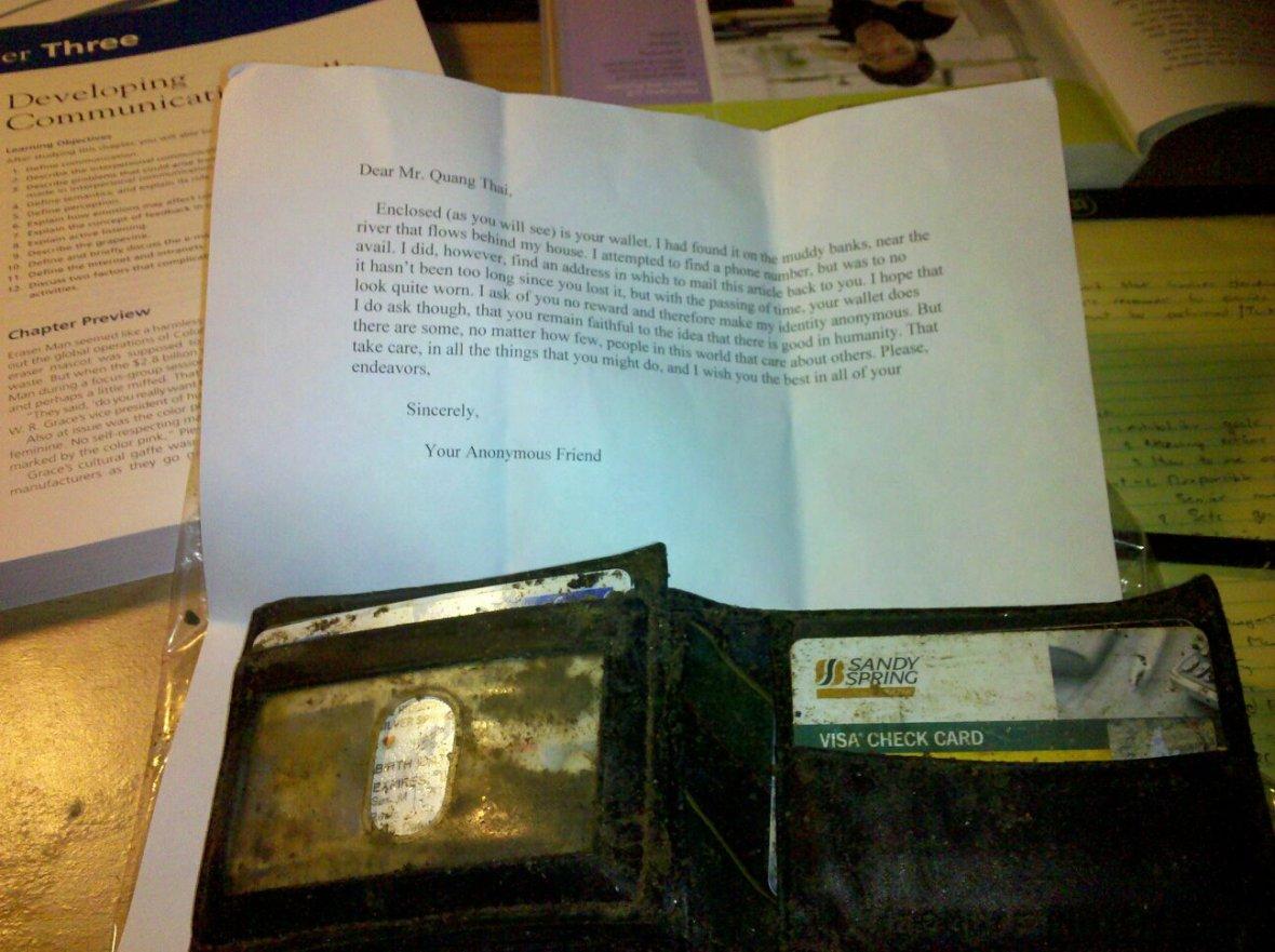 kindness - wallet returned