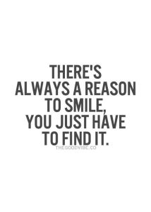 Quote About Being Thankful And Having A Reason To Smile