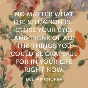 Deepak Chopra on a Floral Background
