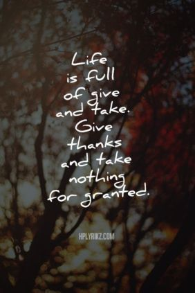 Give And Take Quote