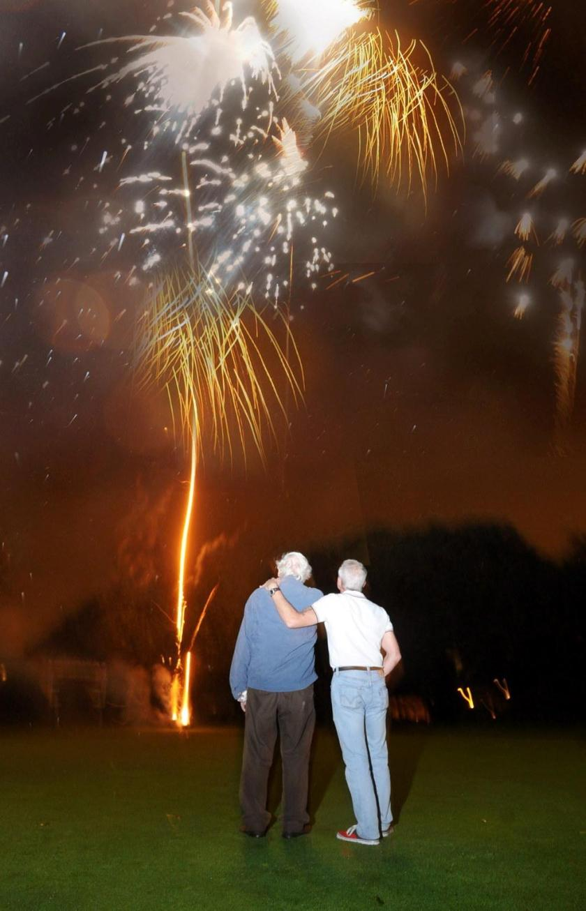 This Man Mixed His Wife's Ashes Into Fireworks And Blasted Them Across The Night Sky.