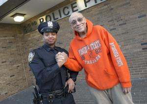 From left, Police Officer Marvin Luis of the 83rd Precinct in Bushwick, Brooklyn, is reunited with Lemuel (Bill) Copeland, whom the young officer loaned $20 after the 78-year-old forgot his wallet and cellphone.