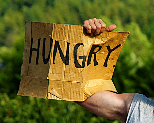 hungry sign