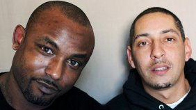 """Maurice Rowland (left) and Miguel Alvarez were working at an assisted living home last fall. When it shut down, Maurice -€- the cook --"""" and Miguel — the janitor --"""" stayed to take care of the residents left behind."""
