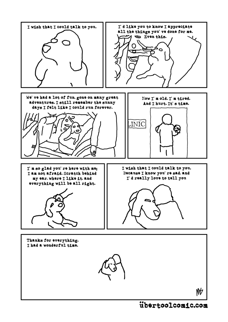 A Loved Dog's Final Thoughts