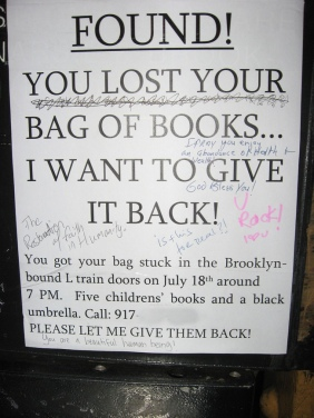 Bag of Books. FOUND!