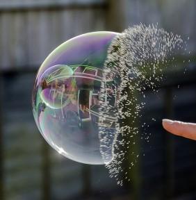 bursting a bubble