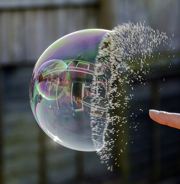 bursting a bubble
