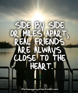 Quote About Friends with Friends in Front of The Water