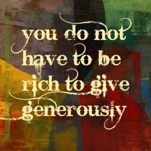 Generosity Quote