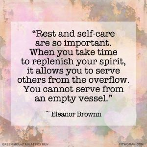 Eleanor Brownn Quote About Self-Care
