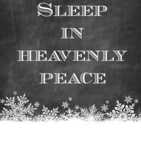 SIlent Night Quote and Snowflakes