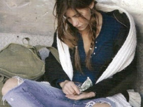 homeless girl