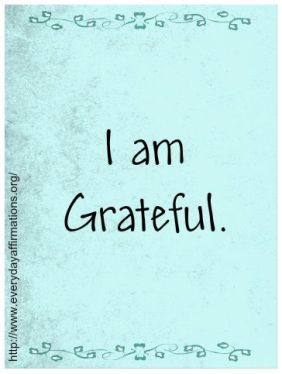 I Am Grateful Quote