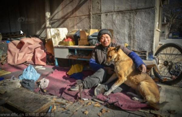 Ma'nao and his dog, Big Yellow