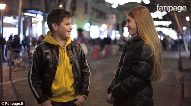What happens when you put a boy in front of a girl and ask him to slap her?