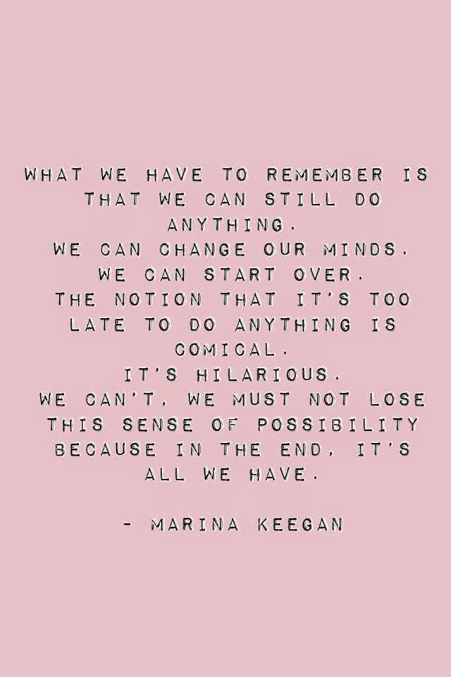 Marina Keegan Quote