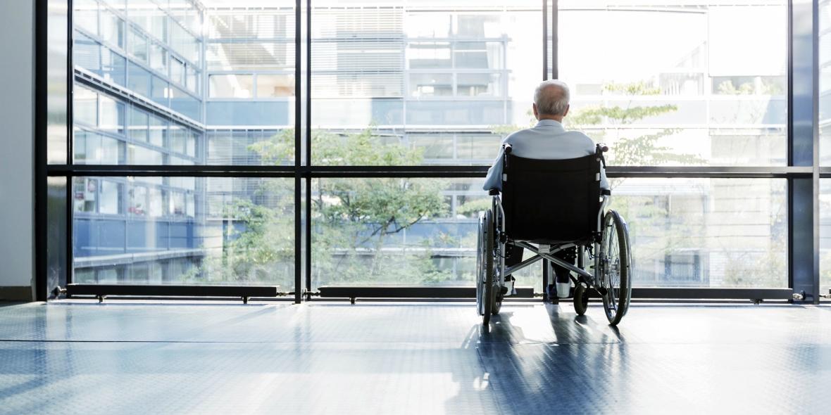man in a wheelchair