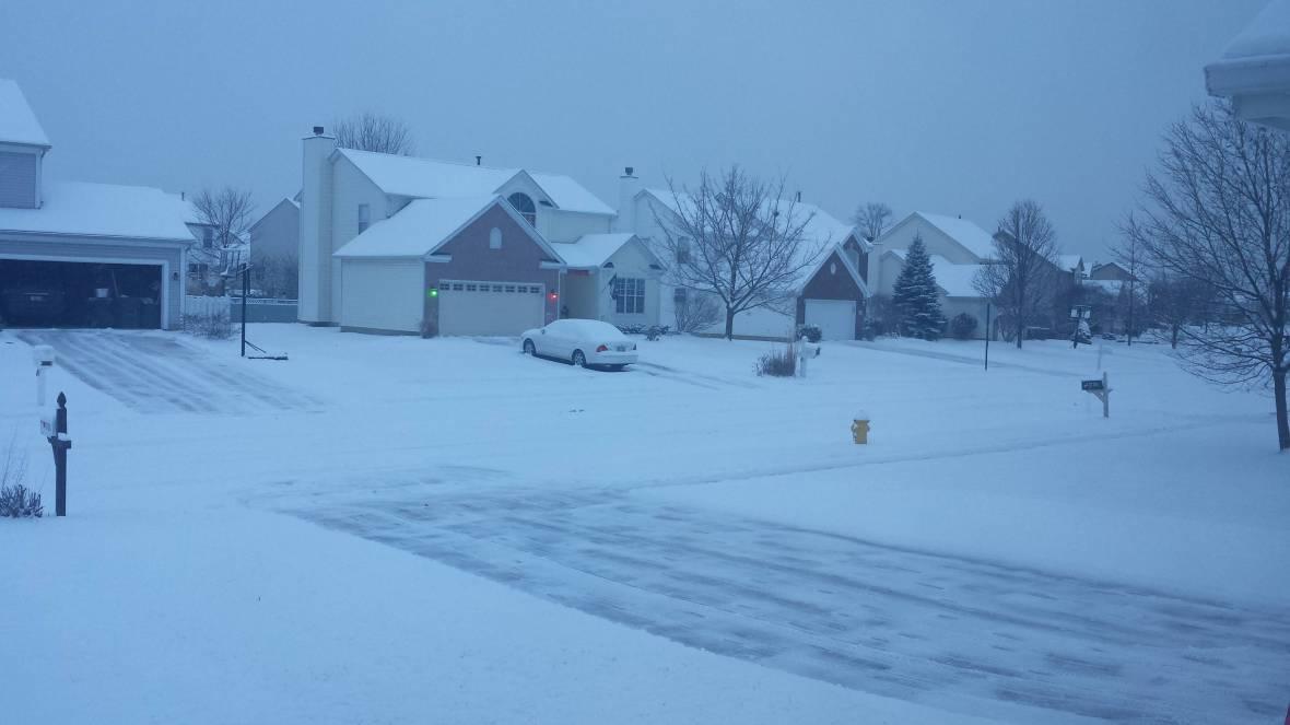 snow shovelled