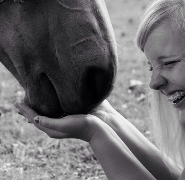 Blind woman Finding out What a Horse Feels Like