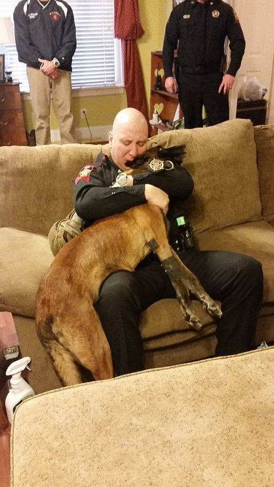 A photo of 'Solo' and his partner, Staff Sgt. Carlos Dipuma