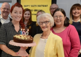 Taxi firm's surprise party as Christine Gibson turns 100