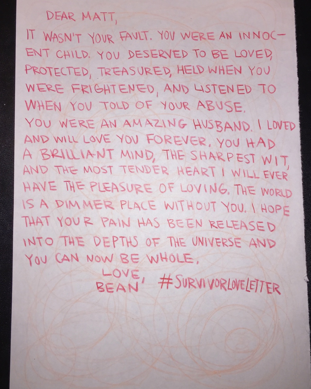 Read The Beautiful Love Letters Sexual Assault Survivors