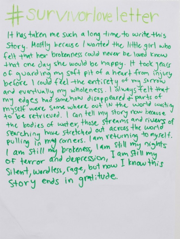 Read The Beautiful Love Letters Sexual Assault Survivors Are Writing