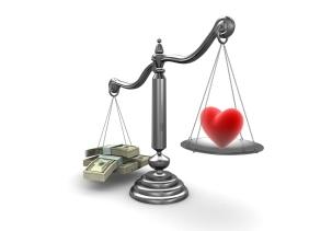 money over love