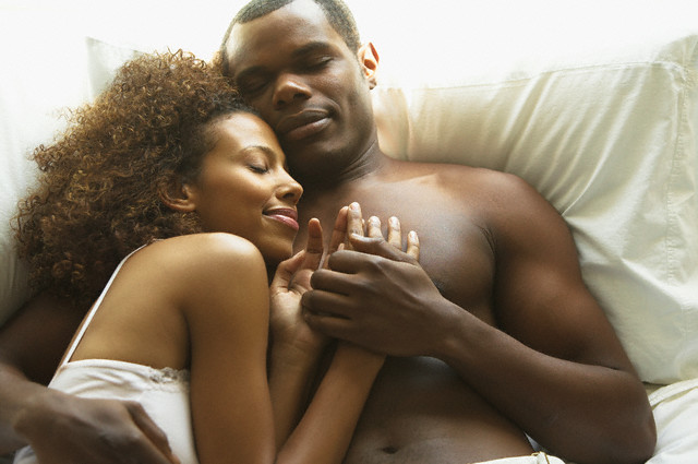 Image result for black couple happy in bed