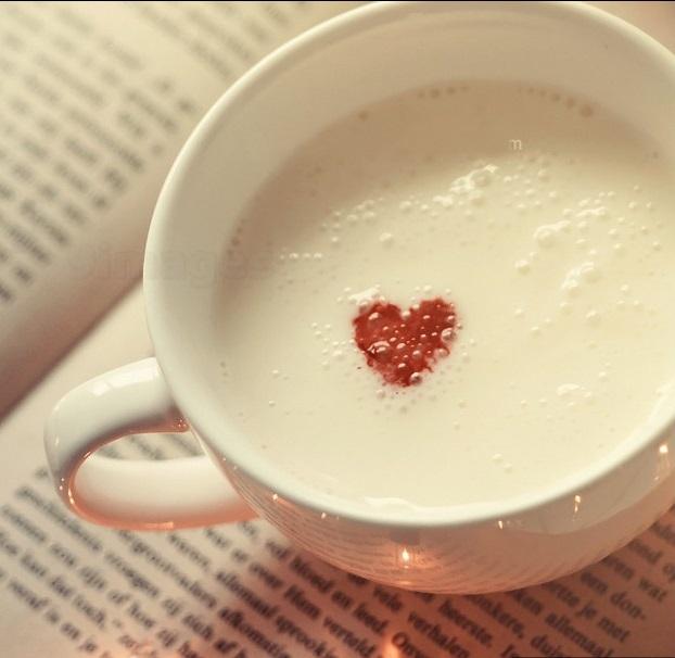 coffee heart art