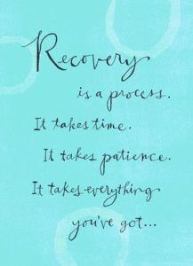Recovery Quote On Blue Background