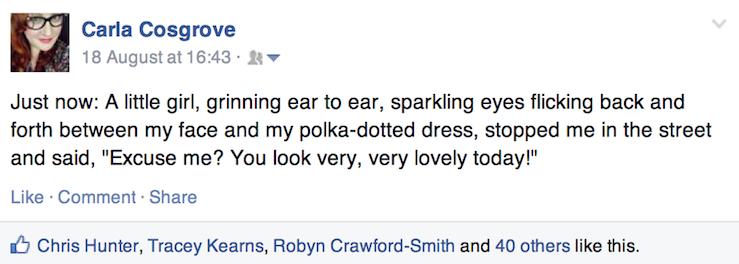 facebook status compliment