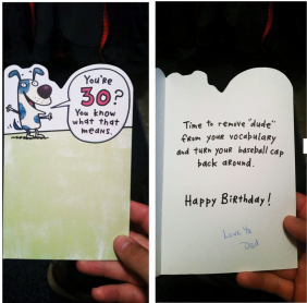 Son Receives a Touching 30th Birthday Card From His Father who Died in 1999