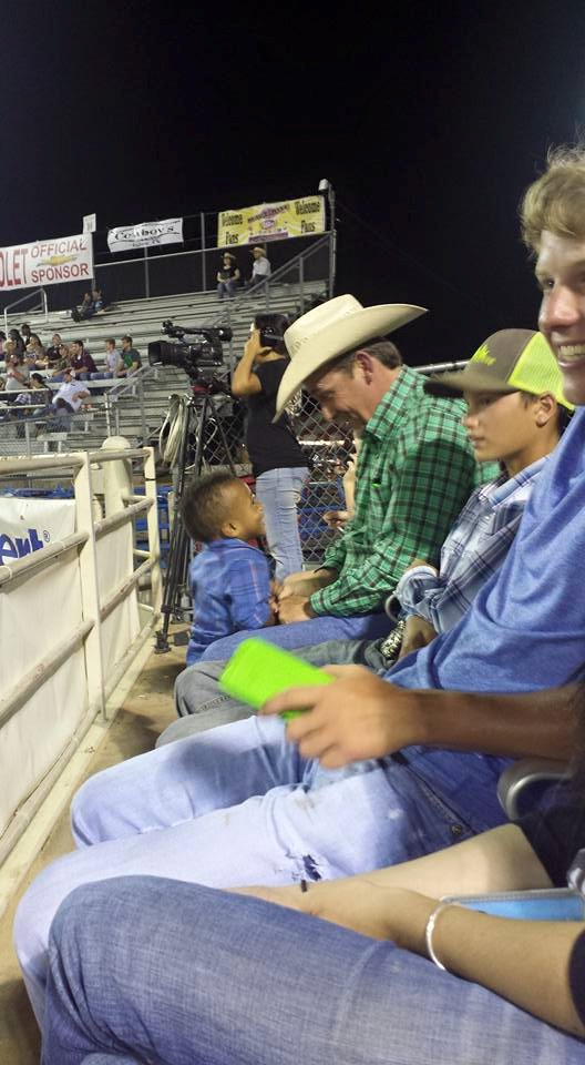 Dear stranger next to us at the rodeo,