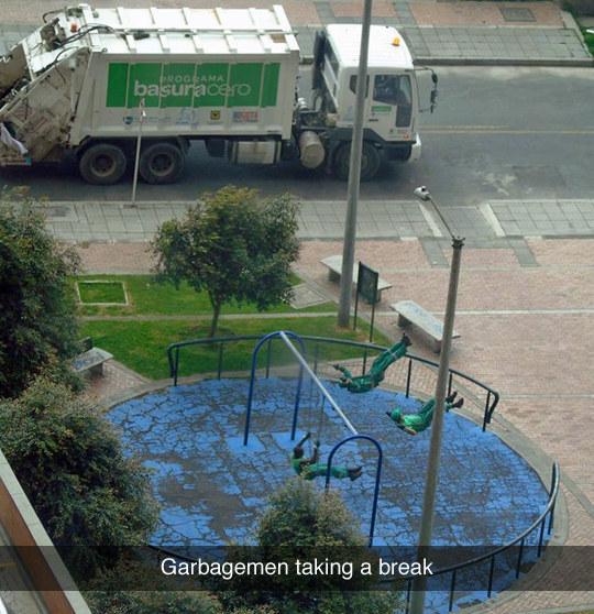 Garbagemen Taking a Break