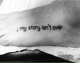 9 Beautiful Semicolon Tattoos Shared to Destigmatize Mental Health Challenges - By Laura Willard