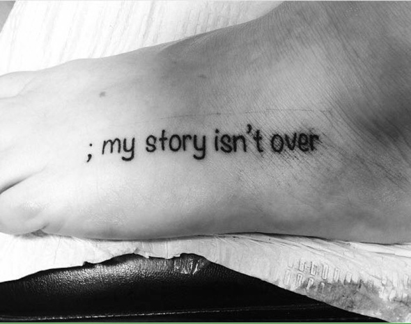 9 Beautiful Semicolon Tattoos Shared to Destigmatize Mental Health Challenges - By Laura Willard