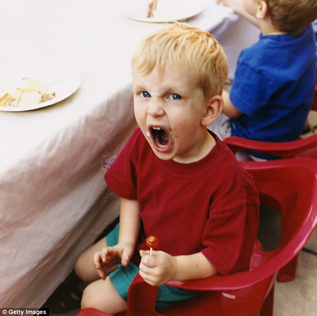 crying child in restaraunt
