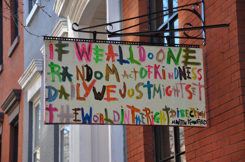 if we all practiced one act of kindness a day