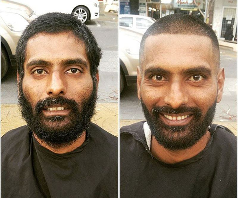 Working six days a week cutting hair, Nasir spends his one day off hitting the streets to give free haircuts to the homeless. He calls it, 'Clean Cut Clean Start'.