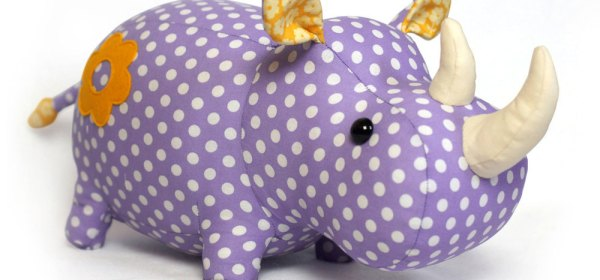 hand sewn stuffed animal