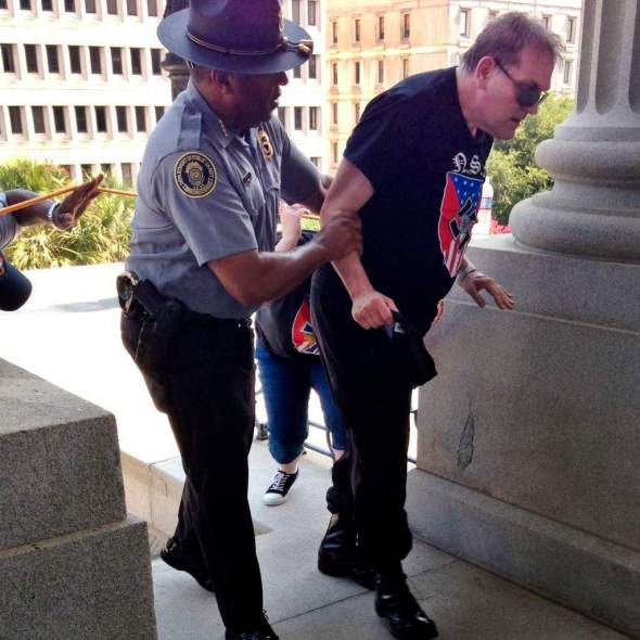 Black officer who helped KKK supporter