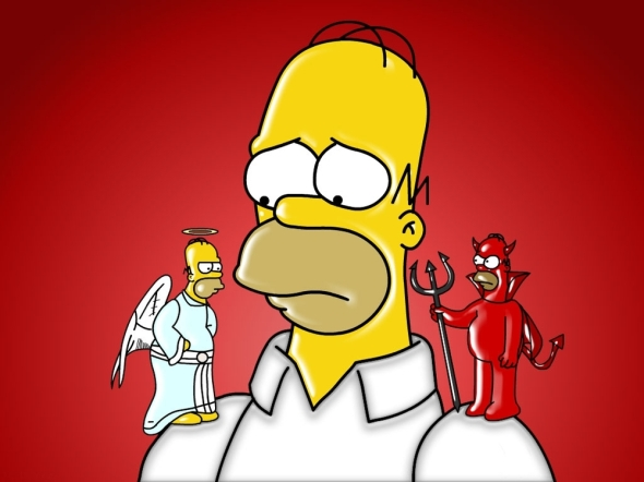 angel devil shoulder simpsons