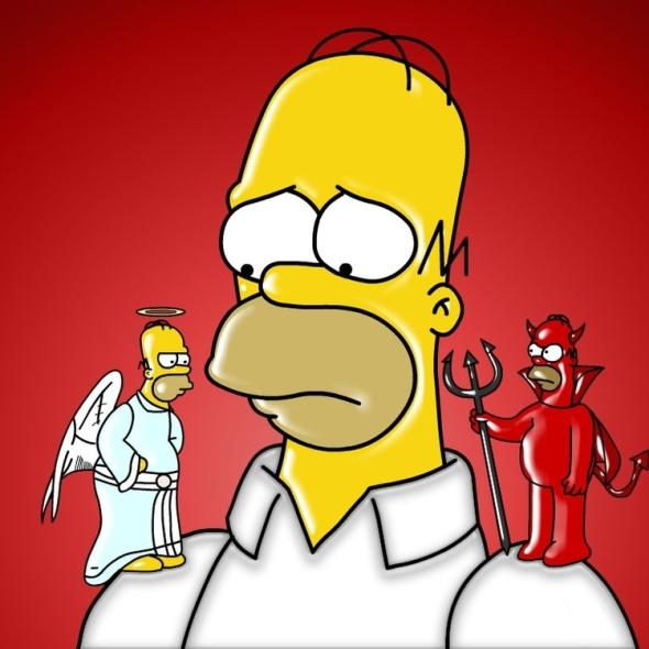 angel devil shoulder simpsons