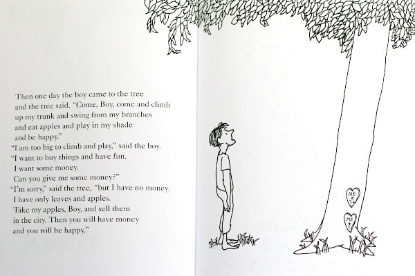 ... in Others: The Giving Tree by Shel Silverstein – Kindness Blog The Giving Tree And The Tree Was Happy
