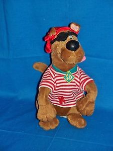 Scooby doo animal with an eye patch and bandana
