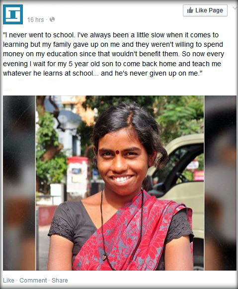 One Mother Receives Education from Her 5 Year Old Son