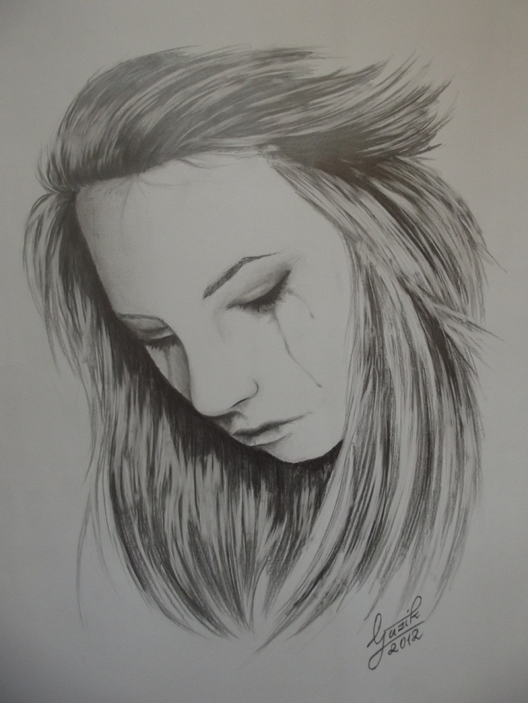 woman crying art